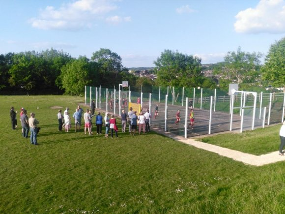 Rodborough PC MUGA launch